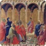A gyermek Jézus a templomban új